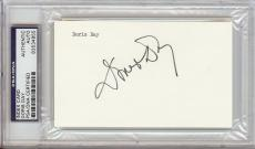 Doris Day Signed 3x5 Index Card (PSA/DNA)