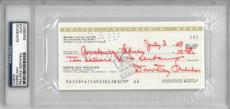 Doris Day Signed Authentic Autographed Check Slabbed PSA/DNA #83436231