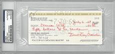Doris Day Signed Authentic Autographed Check Slabbed PSA/DNA #83436234