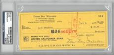Doris Day Signed Authentic Cancelled Check Slabbed PSA/DNA #83436466