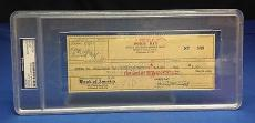 Doris Day signed Cancelled Check Slabbed PSA/DNA # 83770496
