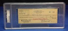 Doris Day signed Cancelled Check Slabbed PSA/DNA # 83770497
