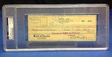 Doris Day signed Cancelled Check Slabbed PSA/DNA # 83770498