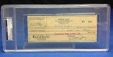Doris Day signed Cancelled Check Slabbed PSA/DNA # 83770499