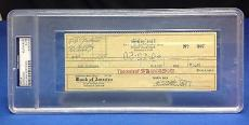 Doris Day signed Cancelled Check Slabbed PSA/DNA # 83770500