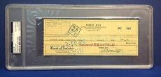 Doris Day signed Cancelled Check Slabbed PSA/DNA # 83770501