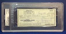 Doris Day signed Cancelled Check Slabbed PSA/DNA # 83770503