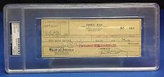 Doris Day signed Cancelled Check Slabbed PSA/DNA # 83770504