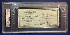 Doris Day signed Cancelled Check Slabbed PSA/DNA # 83770505