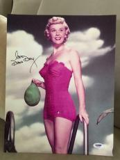 DORIS DAY SIGNED OVERSIZED 11x14 COLOR PHOTO       GORGEOUS SWIMSUIT POSE   PSA