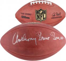 Tony Dorsett Dallas Cowboys Autographed Wilson Pro Football with Anthony Drew Dorsett Inscription