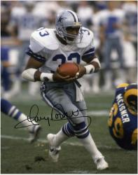 "Tony Dorsett Dallas Cowboys Autographed 8"" x 10"" vs Rams Photograph"