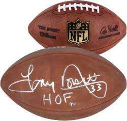 "Tony Dorsett Autographed Football with ""HOF 94"" Inscription - Mounted Memories"