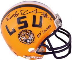 "Early Doucet Autographed LSU Mini Helmet with ""07 Champs"" Inscription"