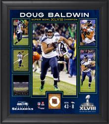 Doug Baldwin Seattle Seahawks Super Bowl XLVIII Champions Framed 15'' x 17'' Collage with Game-Used Ball - Mounted Memories