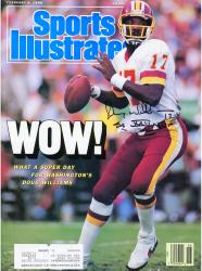 "Doug Williams Washington Redskins Autographed Sports Illustrated ""Wow"" Magazine with SB XXII MVP Inscription"