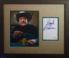 Autographed Doyle Brunson Photo - World Series of Poker framed display JSA