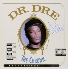 Dr. Dre Autographed The Chronic Album Cover - PSA/DNA