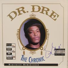 """DR. DRE N.W.A. Signed Autographed """"The Chronic"""" Album LP PSA/DNA #AB00859"""
