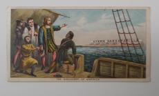 Dr. J.C. ayer Co Ayer's Sarsaparilla The Discovery of America Vintage Trade Card