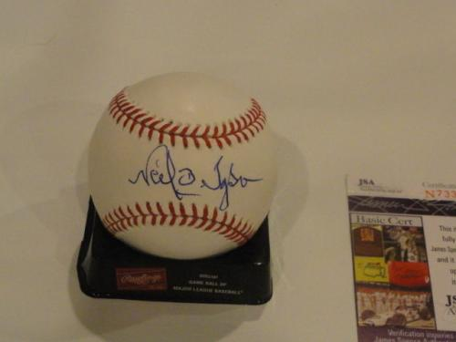 Dr. Neil Degrasse Tyson Signed Omlb Baseball Astrophysicist Science Jsa Coa