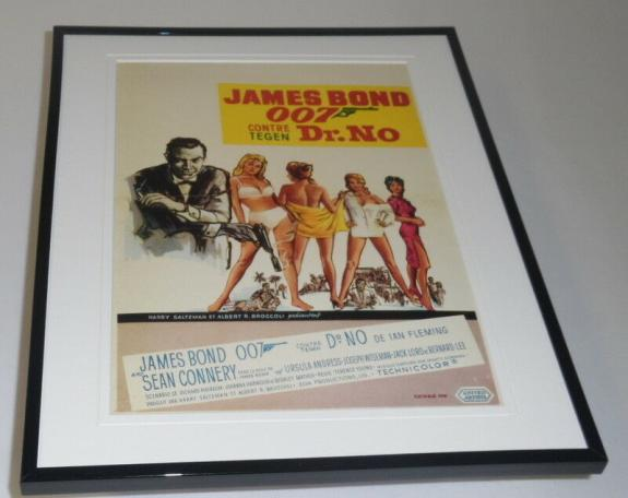 Dr No James Bond Belgium Framed 11x14 Repro Poster Set Sean Connery U Andress