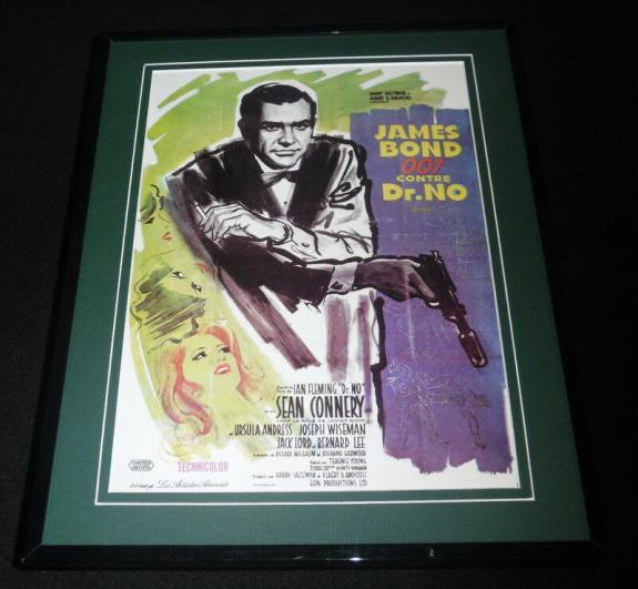 Dr No James Bond Framed 11x14 Repro Movie Poster Display Ursula Andress