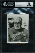 Dr. Seuss Signed 3.75x4.75 B&W Photo Autographed BAS Slabbed