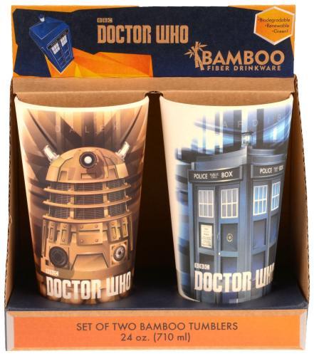 Dr. Who 2 PC 24 oz Bamboo Tumbler Set