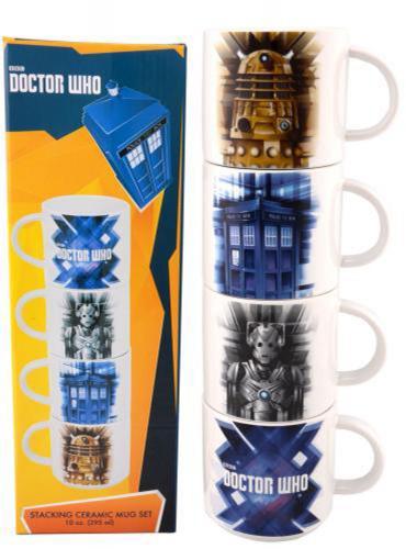 Dr. Who 4 PC Stacking Ceramic Mug Set