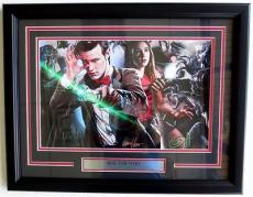 Signed Matt Smith Photograph - DR Who & Karen Gillian 11x17 Framed by Greg Horn