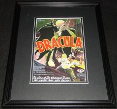 Dracula Framed 11x14 Poster Display Official Repro Bela Lugosi Carl Laemmle