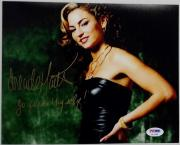 "Drea De Matteo SIGNED 8x10 Photo SOPRANOS SOA AUTO PSA/DNA ""Go **** thy self"