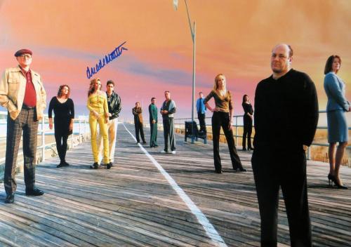 Drea De Matteo Signed Autographed 12X17 Photo The Sopranos Cast on Pier w/COA