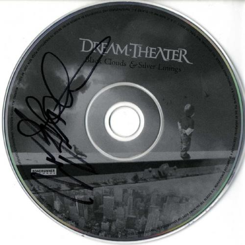 Dream Theater X2 Signed Black Clouds & Silver Linings CD AFTAL UACC RD COA