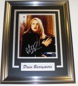 Drew Barrymore Autographed 8x10 Photo ~ Custom Framed