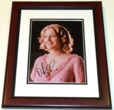 Drew Barrymore Autographed 8x10 Photo MAHOGANY CUSTOM FRAME