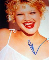 Drew Barrymore Autographed Cherry Lips Photo & Proof PSA DNA