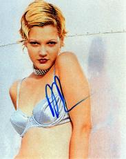 Drew Barrymore Autographed Sexy Signed 8x10 Photo AFTAL