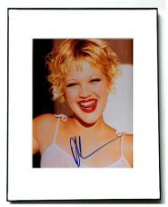 Drew Barrymore Autographed Signed Framed Cherry Lips Photo UACC RD AFTAL