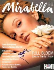 Drew Barrymore Autographed Signed Magazine PSA/DNA #T19727