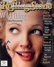 "Drew Barrymore Autographed Signed Magazine ""To Jeffrey"" PSA/DNA #V57405"