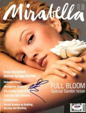 Drew Barrymore Certified Authentic Autographed Signed Magazine PSA/DNA