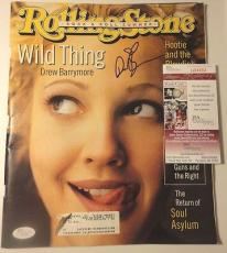 Drew Barrymore Movie Celeb Jsa Coa Signed Autograph Rollingstone Magazine Rare
