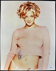 Drew Barrymore Sexy Signed 16X20 Photo Autographed PSA/DNA #J00075