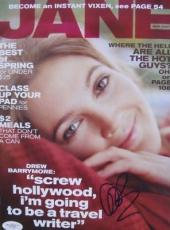 Drew Barrymore SEXY Signed NO LABEL JANE Magazine JSA