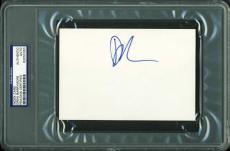 Drew Barrymore Signed 4X6 Index Card Autographed PSA/DNA Slabbed