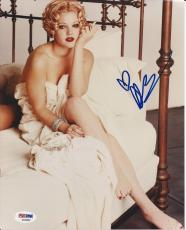 DREW BARRYMORE Signed 8 x10 PHOTO w/ PSA/DNA COA