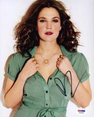 Drew Barrymore SIGNED 8x10 Photo Charlies Angels *SEXY* PSA/DNA AUTOGRAPHED