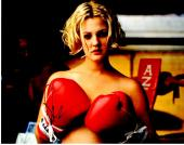 Drew Barrymore Signed - Autographed Topless Boxing 11x14 inch Photo - Guaranteed to pass PSA or JSA